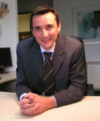 Photo of Stéphane Doré, Chairman and Founder of the ACCEO Group Building engineering firm, in his office